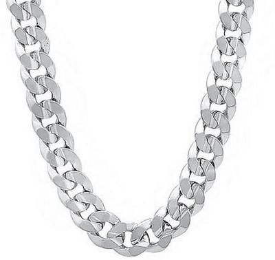 Buy Best .925 Solid Sterling Silver 8MM CUBAN CURB LINK CHAIN NECKLACE MENS CHAIN ITALY