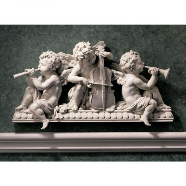 Buy Best ANGELIC NOTES PEDIMENT DESIGN TOSCANO music  angels  wall pediment  angel