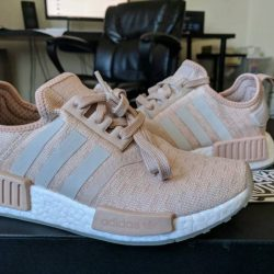 Buy Best Adidas NMD_R1 Runner W Nomad Women's Ash Pearl Chalk Pink 3M White CQ2012 Boost