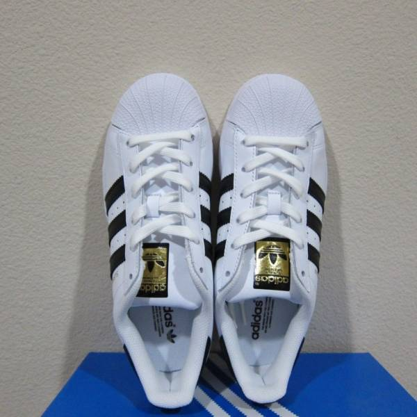 Adidas Originals Superstar Shoes Women's White/Black/Gold Sneakers