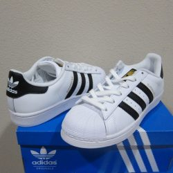 Buy Best Adidas Originals Superstar Shoes Women's White/Black/Gold Sneakers