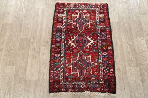 """Buy Best Alluring Geometric 2x4 Wool Gharajeh Persian Oriental Area Rug 3' 8"""" x 2' 3"""""""