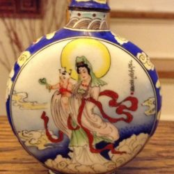 Buy Best Antique Chinese Qing Dynasty Enamel Painted Snuff Bottle Quan Yin