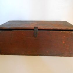 Buy Best Antique Primitive Vulcan Horse Nail Box Crate Original Dry Red Paint Pat 1865 AA