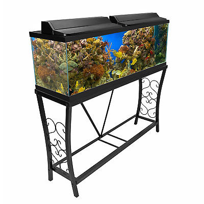 Aquatic Fundamentals Black Scroll Aquarium Stand - for 55 Gallon Aquariums