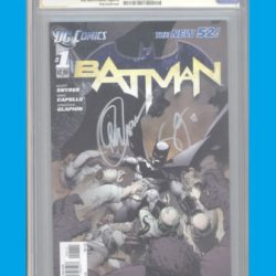 BATMAN #1 NEW 52 (2011) FIRST PRINT SS CGC 9.8 SIGNED CAPULLO AND SNYDER