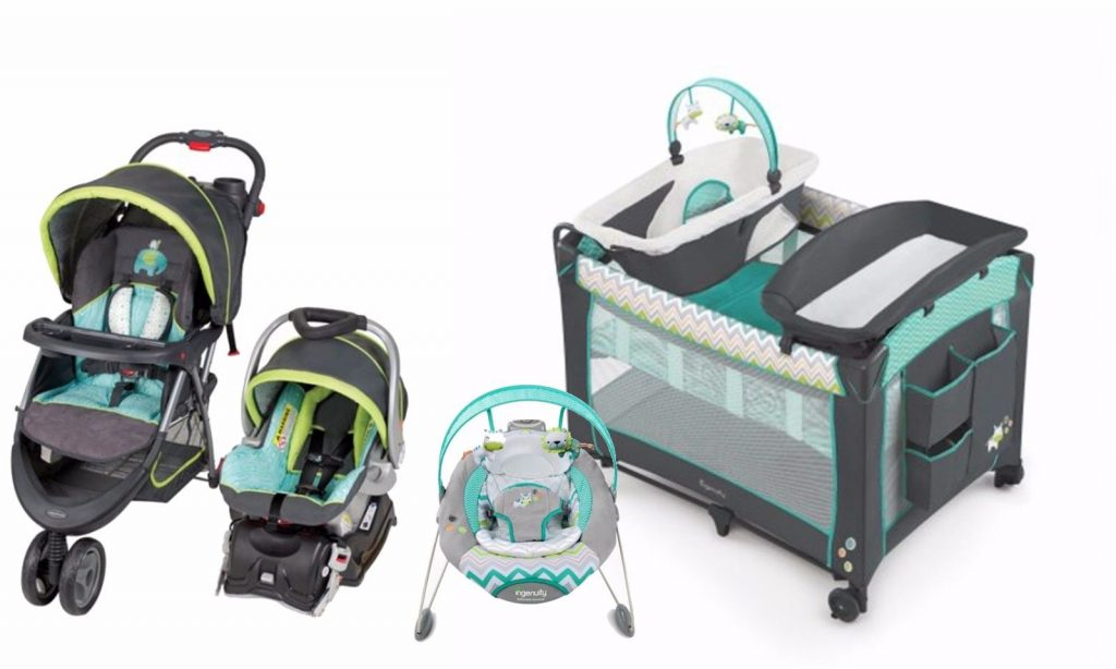 Buy Cheap Baby Stroller Car Seat Infant Bouncer Nursery Playard Crib Travel System Set