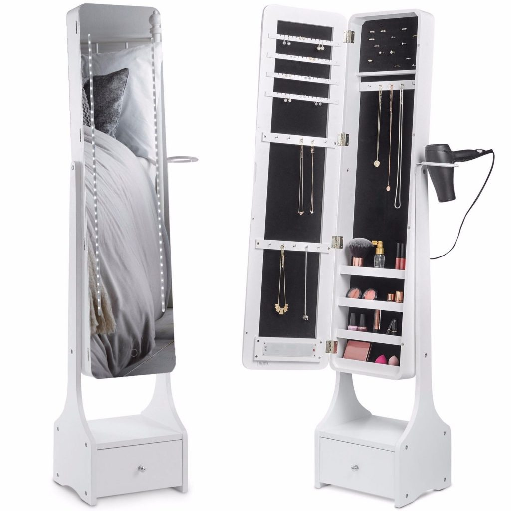 Buy Cheap Beautify Mirrored Jewelry Cabinet LED ...