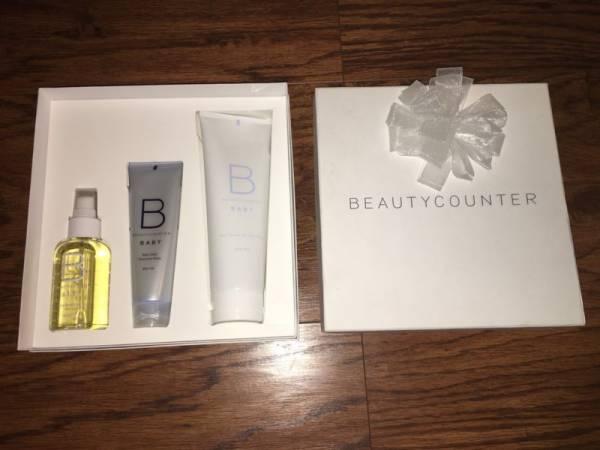 Buy Best Beautycounter Gift Set 4 oz Baby Oil, 3 oz Protective Balm, 8 oz Wash BRAND NEW