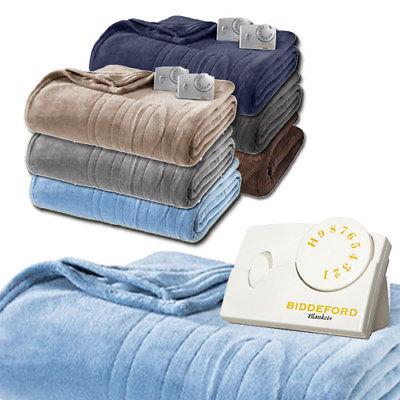 Biddeford MicroPlush Analog Electric Heated Blanket Twin Full Queen King