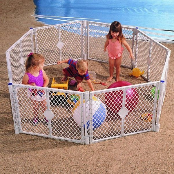 Buy Best Big 8 Panel Wide Super Playpen Play Yard Baby Pet Dog Enclosure Gate Large Pen