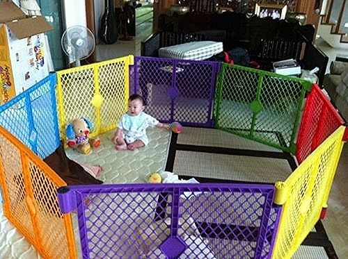 Big 12 Panel Wide Super Playpen Play Yard Baby Dog Pet Enclosure Extra Large Pen