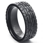 Buy Best Black Zirconium Eagle F1 Supercar Nascar Tire Tread Men's Wedding Ring LWR