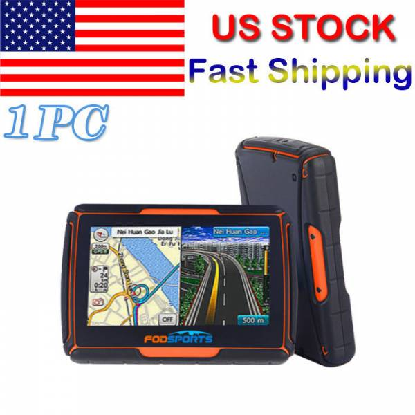 """Bluetooth Motorcycle GPS Navigation 8GB Waterproof 4.3"""" Touch Screen+Free Maps"""