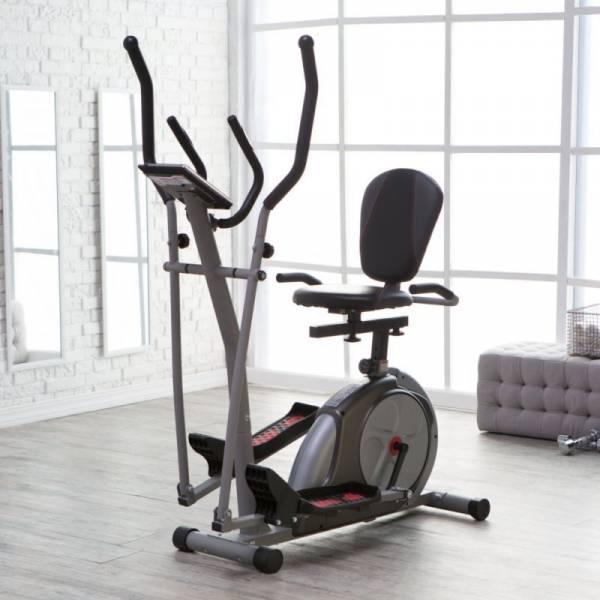 Buy Best Body Rider 3-in-1 Trio Trainer - Elliptical/Recumbent Bike/Upright Bike, Silver