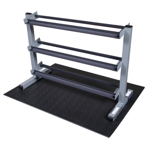Buy Best Body-Solid 3 Tier Horizontal Dumbbell Rack GDR363- Gym Storage Fitness Equipment