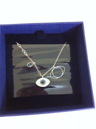 Brand New Swarovski Duo Evil Eye Necklace Pendant 5172560