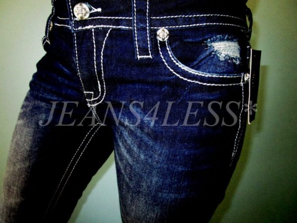Buckle MISS ME by MEK Embellished Signature Boot Cut Stretch Jeans 31 x 34 NWT