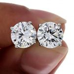 Buy Best CERTIFIED 1.00ct 1ct ONE CARAT ROUND-CUT F/VS2 DIAMONDS 14K GOLD STUDS EARRINGS