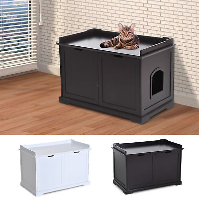 Buy Best Cat Hidden Litter Box Enclosure Bench Hall End Table Pet Kitty Cabinet Wood