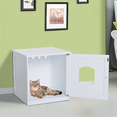 Buy Best Cat Hidden Litter Box Enclosure Nightstand End Table Kitty Pet House Wood