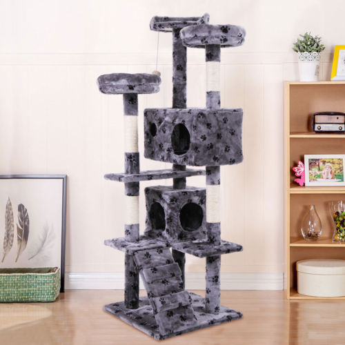 """Buy Best Cat Tree 60"""" Tower Condo Furniture Scratching Post Pet Kitty Play House"""