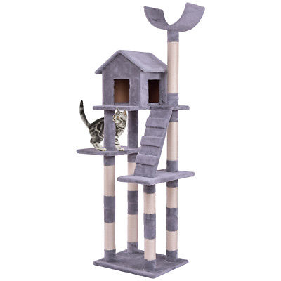 Buy Best Cat Tree Condo Tower Scratching Posts Pet Kitten Furniture Play House w Ladder