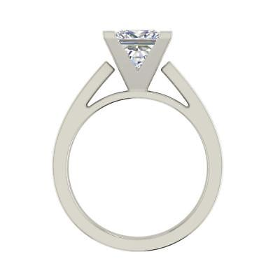 Cathedral 0.75 Carat VS2/H Princess Cut Diamond Engagement Ring White Gold