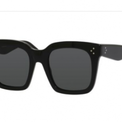 Celine Square Sunglasses CL41076S 807BN Shiny Black 41076