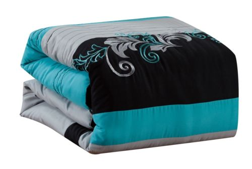 Buy Best Chezmoi Collection 7-piece Luxury Leaves Scroll Embroidery Bedding Comforter Set