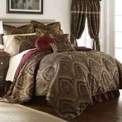 Chezmoi Collection Seville 9-piece Jacquard Paisley Oversized Comforter Set