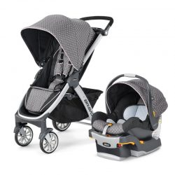 Chicco Bravo Quick Fold Trio KeyFit 30 Travel System - Lilla Color Scheme (NEW)