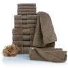 Concierge Collection 100% Turkish Cotton 15-piece Soft Towel Set,Taupe,MSRP $150