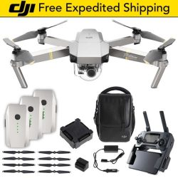 DJI Mavic Pro PLATINUM | Fly More Combo Bundle Drone Quadcopter Quiet Propellers