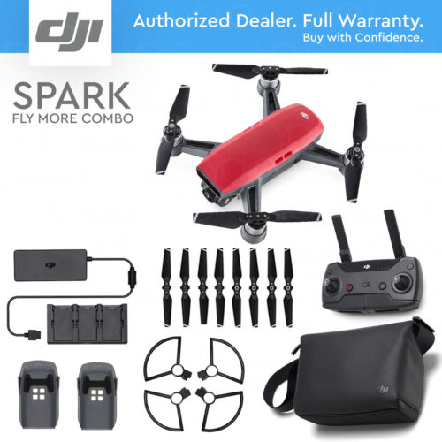 Buy Best DJI SPARK FLY MORE COMBO - Lava Red. 12MP Camera, 1080p Video, Active Track