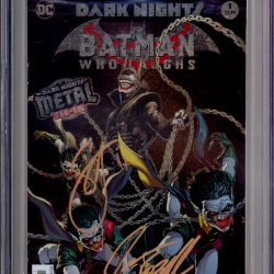 Dark Nights Batman Who Laughs #1 CGC SS 9.6 Signed By JASON FABOK & SCOTT SNYDER