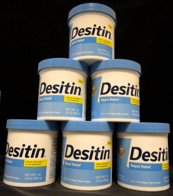 Buy Best Desitin Rapid Relief Cream, 16 Oz. Bundle (6) Jars