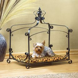 Dog Cat Ferret Royal Splendor Velvet Canopy Pet Bed New