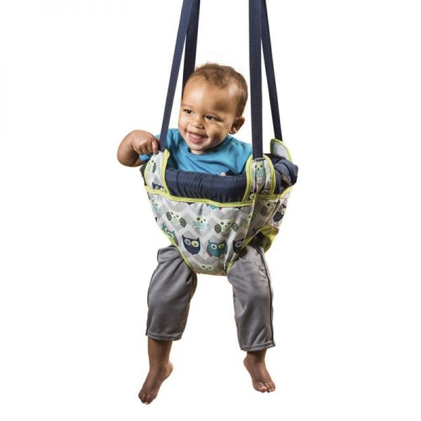 Buy Best Evenflo Johnny Jump Up Blue Owl Door Doorway Baby Jumper Jump Up Exerciser New .