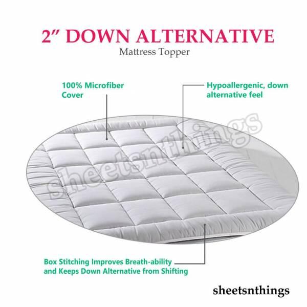 "Buy Best Extra Soft Plush Fiber Overfilled Pad, 2"" Down Alternative Mattress Topper"