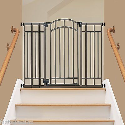 Extra Tall Walk Thru Child Safety Gate Baby Toddler Dog Pet Doorway Stairs Fence