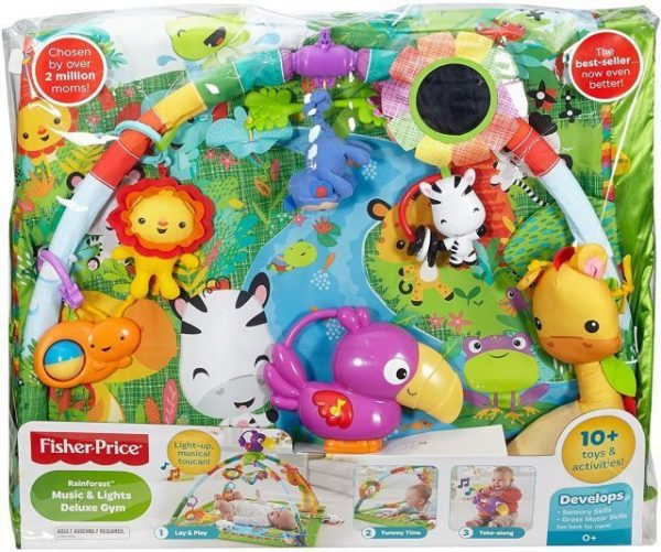 FISHER PRICE RAINFOREST MUSIC & LIGHTS DELUXE GYM NEW IN PACKAGE DFP08
