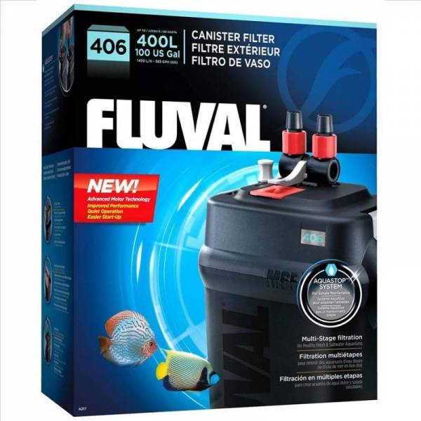 Buy Best FLUVAL 406 AQUARIUM CANISTER FILTER with COMPLETE MEDIA Plus 3 YEAR WARRANTY