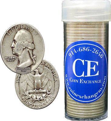 Buy Best FULL DATES Roll Of 40 $10 Face Value 90% Silver Washington Quarters