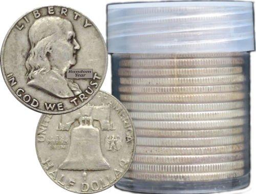 Buy Best FULL DATES Roll of 20 $10 Face Value 90% Silver Franklin Half Dollars