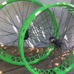 Buy Best Fat Bike Wheelset 26 x 100mm QR 9s Freehub Disc Brake Compatible Green