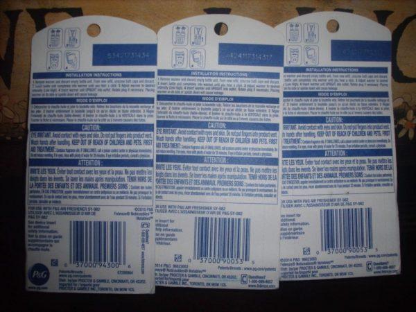 Buy Best Febreze 1 VANILLA CREAM 2 VANILLA LATTE Dual Scented Oil Noticeables refills
