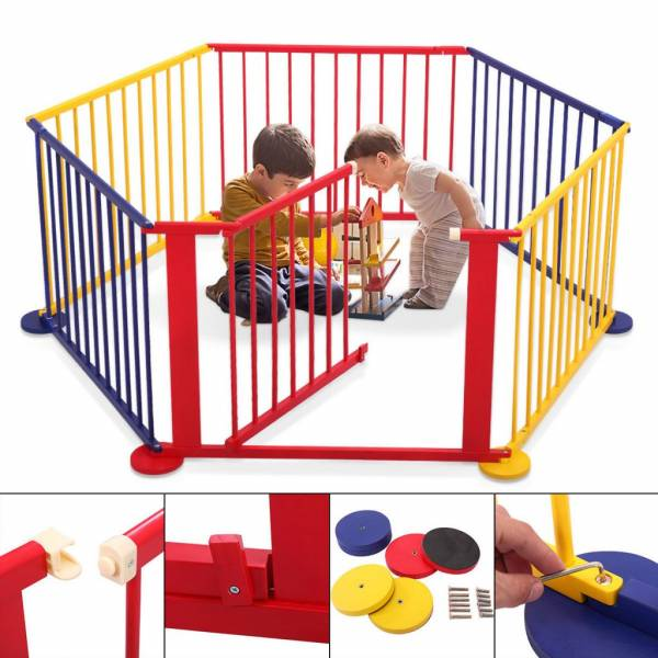 Buy Best Fence Portable Pet Outdoors 6 Panel Play Pen Safety Gate Children Yard Baby Kids