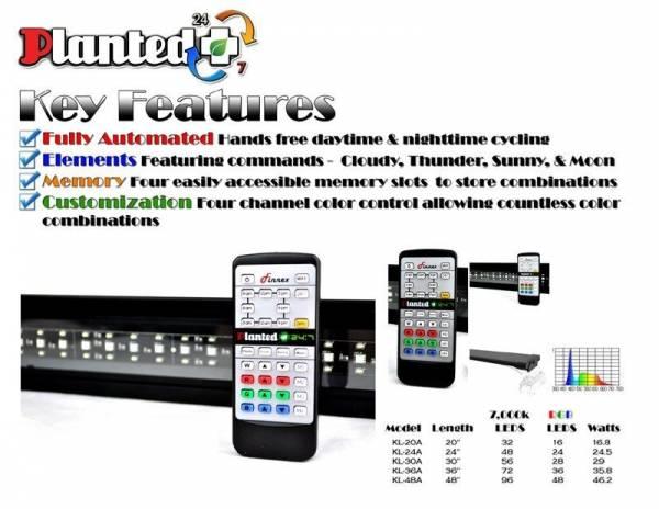 "Buy Best Finnex Planted+ KL-48A 24/7 Automated Aquarium 48"" LED 46w Lighting Fixture"