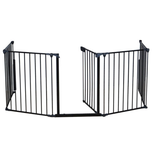 Buy Best Fireplace Fence Baby Safety Fence Hearth Gate Pet Cat Dog BBQ Metal Fire Gate